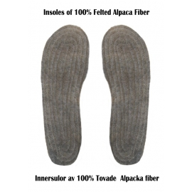 Soles of felted Alpaca fiber