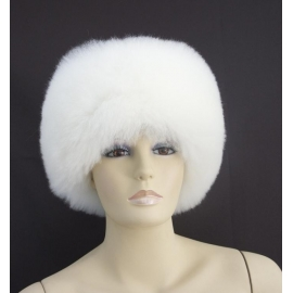Alpaca Fur Hat, model 1, white