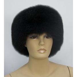 Alpaca Fur Hat, model 1, black