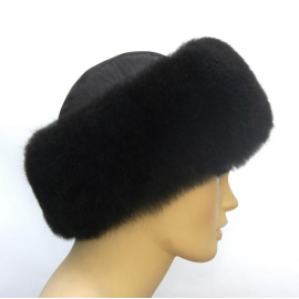 Alpaca Fur Hat: model 2, black