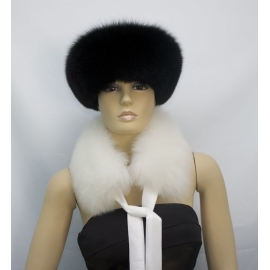 Fur Stole, Genuine Leather-Baby Alpaca