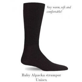 Baby Alpaca Socks - black