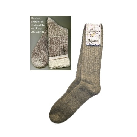 NEW!!! Alpaca Winter Socks - marble camel