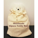Alpaca Teddy Bear - white - 30cm height