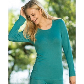 Warm Thermal Shirt for Layering - Ice blue