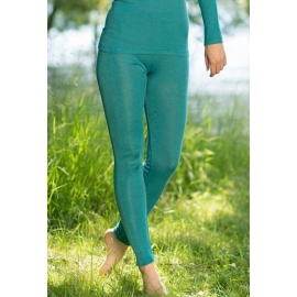Leggings i ull och silke - Ice blue