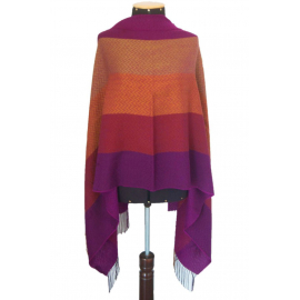 "Shawl ""Mare"" made of 100% natural fibers - autumn shades"