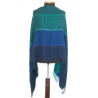 "Shawl ""Mare"" made of 100% natural fibers - aqua shades"