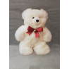Christma's Teddy Bear - 32cm - white