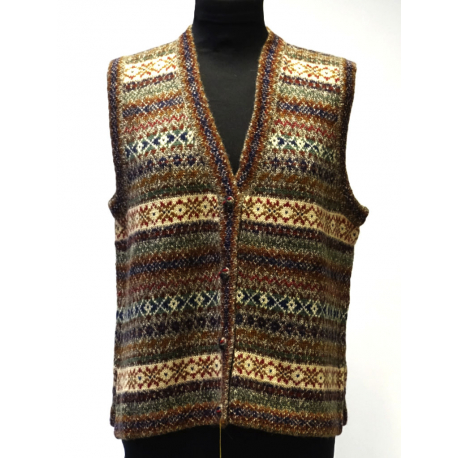 Handmade Vest in 100% Alpaca, earthy colors