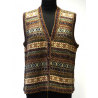 Handmade Vest in 100% Alpaca, earthy colors No 1