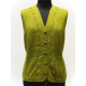 Handmade Vest / Blouse in 100% Alpaca, lime green color