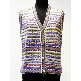 Handmade Vest in 100% Alpaca, earthy colors No 2