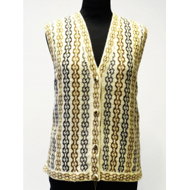 Handmade Vest in 100% Alpaca, earthy colors No 3