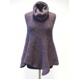 Super soft Baby Alpaca poncho with long collar No5