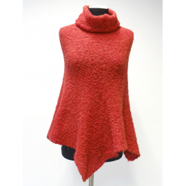 Super soft Baby Alpaca poncho with long collar No6