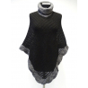 Elegant Poncho with high collar made of 100% Baby Alpacka fiber