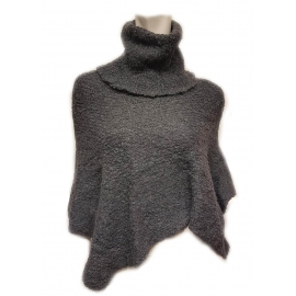 100% Baby Alpaca Poncho with long collar